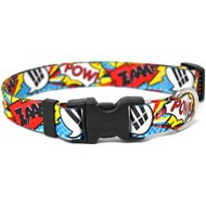 Yellow Dog Design Comics Print Adjustable Dog Collar, Medium