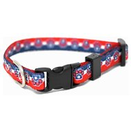 Yellow Dog Design Patriotic Paw Adjustable Dog Collar, X-Small