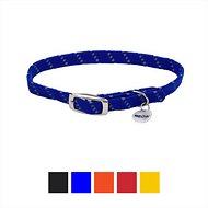 ElastaCat Reflective Safety Stretch Cat Collar, 10-in, Blue