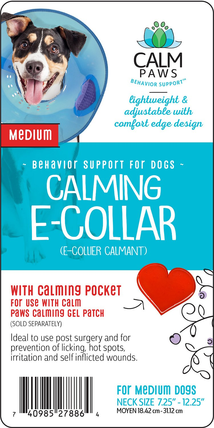 Calm Paws Calming Dog E Collar Medium Chewy Com