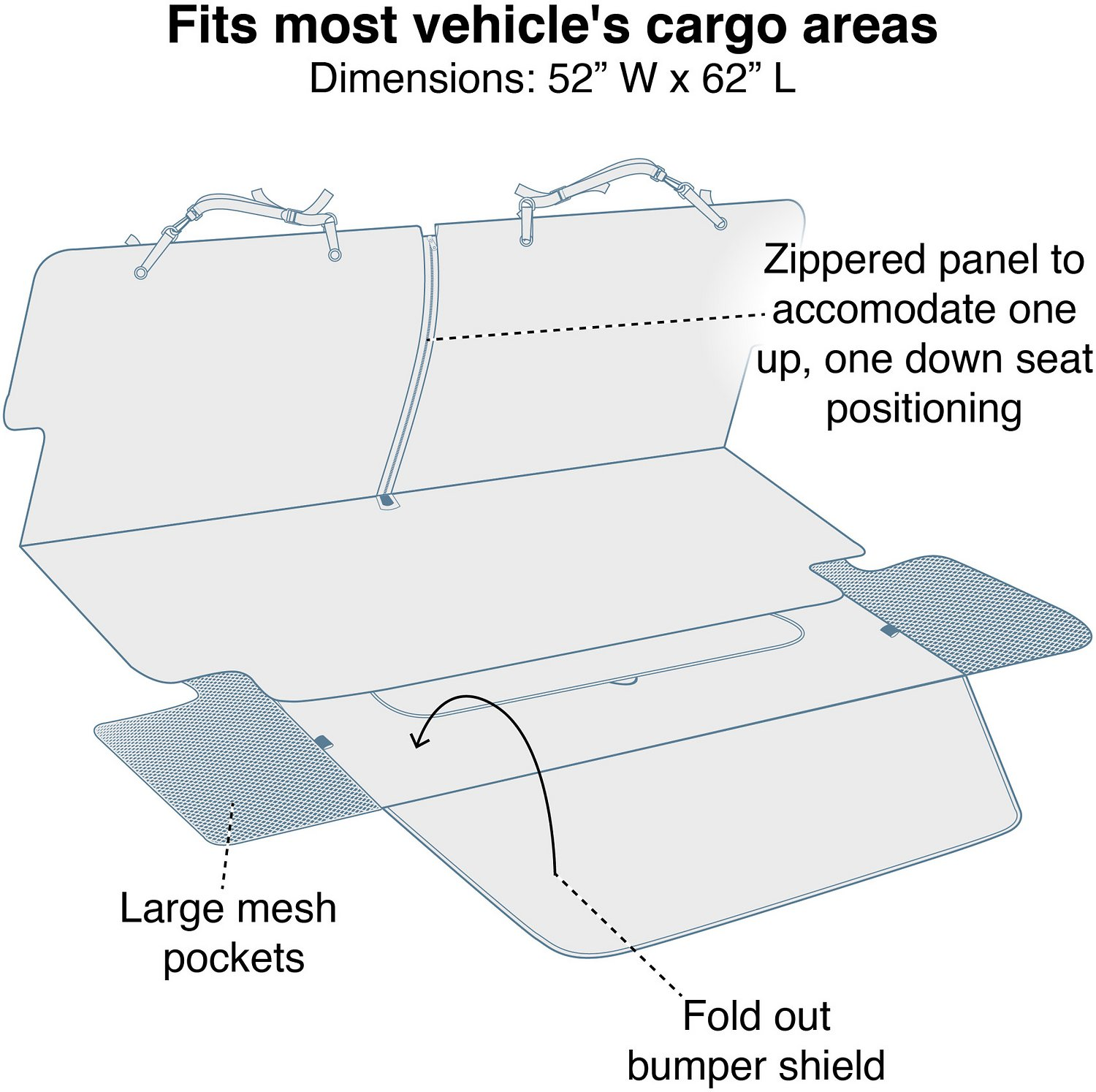 kurgo cargo cape liner car seat cover charcoal. Black Bedroom Furniture Sets. Home Design Ideas