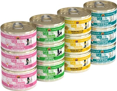 6. Weruva Cats in the Kitchen Cuties Variety Pack Grain-Free Canned Cat Food