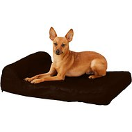 Big Barker Jr. Pillow Top with Headrest Orthopedic Dog Bed, Small, Chocolate