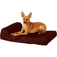 Big Barker Jr. Pillow Top with Headrest Orthopedic Dog Bed, Burgundy, Small