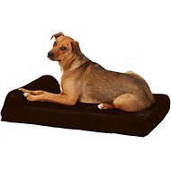 Big Barker Jr. Pillow Top with Headrest Orthopedic Dog Bed, Chocolate, Medium