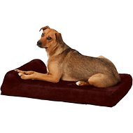 Big Barker Jr. Pillow Top with Headrest Orthopedic Dog Bed, Burgundy, Medium