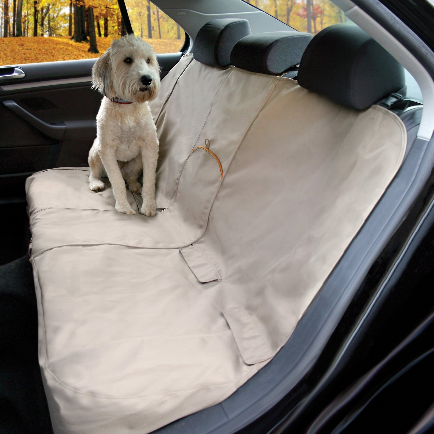 Phenomenal Kurgo Extended Width Dog Bench Seat Cover Hampton Sand Caraccident5 Cool Chair Designs And Ideas Caraccident5Info