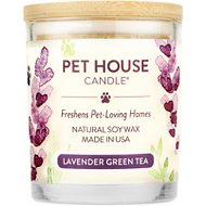 One Fur All Lavender Green Tea Pet House Natural Soy Candle, 8.5-oz jar