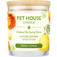 One Fur All Fresh Citrus Pet House Natural Soy Candle, 8.5-oz jar