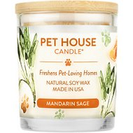One Fur All Mandarin Sage Pet House Natural Soy Candle, 8.5-oz jar