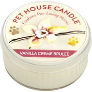 One Fur All Vanilla Creme Brulee Pet House Natural Soy Candle, 1.5-oz jar