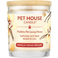 One Fur All Vanilla Creme Brulee Pet House Soy Natural Candle, 8.5-oz jar