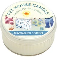 One Fur All Sunwashed Cotton Pet House Natural Soy Candle, 1.5-oz jar