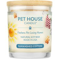 One Fur All Sunwashed Cotton Pet House Natural Soy Candle, 8.5-oz jar