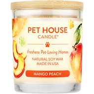 One Fur All Mango Peach Pet House Natural Soy Candle, 8.5-oz jar