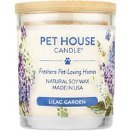 One Fur All Lilac Garden Pet House Natural Soy Candle, 8.5-oz jar