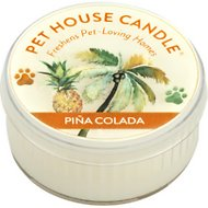 One Fur All Pina Colada Pet House Natural Soy Candle, 1.5-oz jar