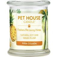 One Fur All Pina Colada Pet House Natural Soy Candle, 8.5-oz jar