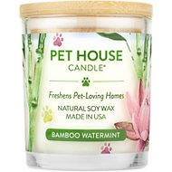 One Fur All Bamboo Watermint Pet House Natural Soy Candle, 8.5-oz jar