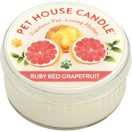 Pet House Ruby Red Grapefruit Natural Soy Candle, 1.5-oz jar
