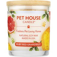 One Fur All Ruby Red Grapefruit Pet House Natural Soy Candle, 8.5-oz jar