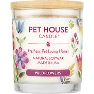 One Fur All Wildflowers Pet House Natural Soy Candle, 8.5-oz jar