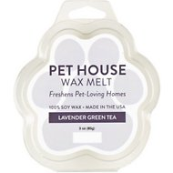 One Fur All Lavender Green Tea Pet House Soy Wax Melt, 3-oz
