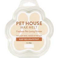 One Fur All Ruby Red Grapefruit Pet House Soy Wax Melt, 3-oz