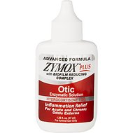 Zymox Plus Advanced Formula 1% Hydrocortisone Otic Dog & Cat Ear Solution, 1.25-oz bottle