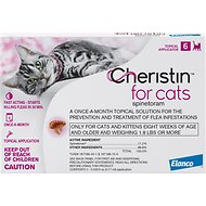 Cheristin Flea Treatment Topical For Cats Over 1.8 lbs, 6 count