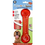 Pet Qwerks Flavorit Bacon Flavor Infused Flex Bone Dog Toy, X-Large