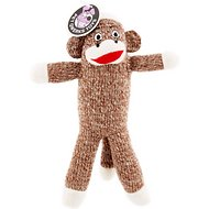 Pet Qwerks Sock Monkey Plush Dog Toy