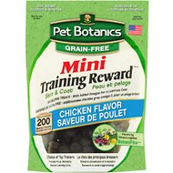 Pet Botanics Mini Training Rewards Grain Free Chicken Flavor Dog Treats, 4-oz bag