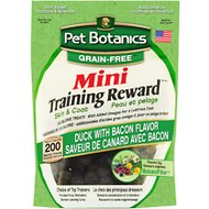 Pet Botanics Mini Training Rewards Grain Free Duck & Bacon Flavor Dog Treats, 4-oz bag