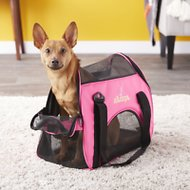 Zampa Soft Sided Dog & Cat Carrier, Pink