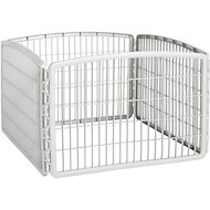 IRIS 4-Panel Exercise Plastic Play Pen, Light Gray, 24-in