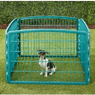 IRIS 4-Panel Exercise Plastic Play Pen, Green, 24-in