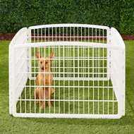 IRIS 4-Panel Exercise Plastic Play Pen, 24-in, White