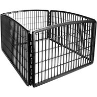 IRIS 4-Panel Exercise Plastic Play Pen, 24-in, Black