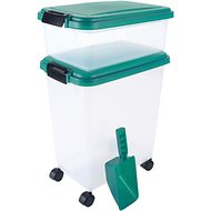 IRIS Airtight Food Storage Container & Scoop Combo, Everglade Green