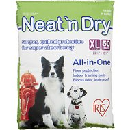 IRIS Neat 'n Dry Floor Protection & Training Pads, Extra Large, 50 count