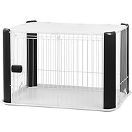 IRIS Pet Wire Dog Crate with Mesh Roof, Black, Small