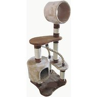 IRIS 49-Inch 4-Tier Cat Tree, Brown