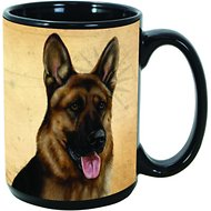 Pet Gifts USA My Faithful Friend Dog Breed Coffee Mug, German Shepherd, 15-oz