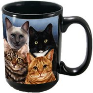 Pet Gifts USA My Faithful Friend Cat Menagerie Coffee Mug, 15-oz