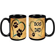 "Pet Gifts USA Pawmarks on My Heart ""Dog Dad"" Coffee Mug, 15-oz"