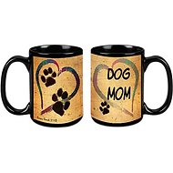 "Pet Gifts USA Pawmarks on My Heart ""Dog Mom"" Coffee Mug, 15-oz"