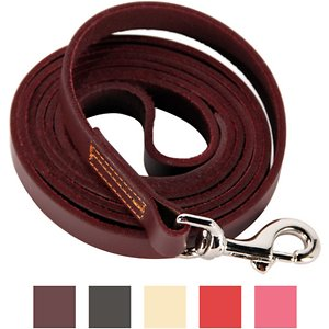 Logical Leather Dog Leash, Brown, 6-ft