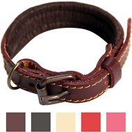 Logical Leather Padded Dog Collar, Brown, X-Small