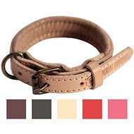 Logical Leather Padded Dog Collar, Tan, X-Small